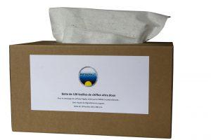Chiffons doux pour traitement sur surfaces fragiles et délicates
