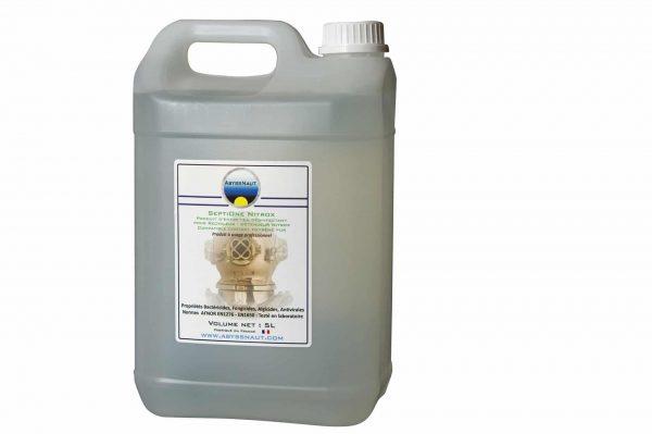 Désinfectant materiel en contact oxygène pur et nitrox